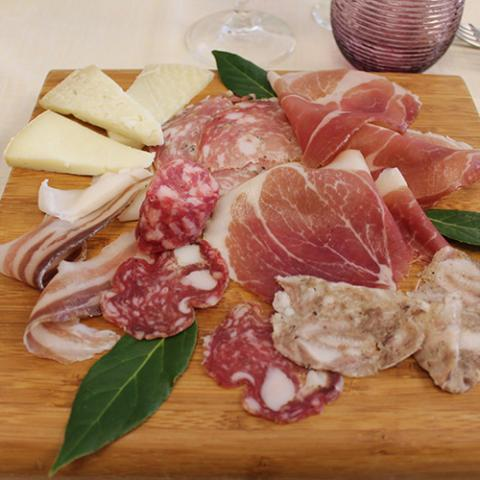 Antipasto Selezione di Salumi ristorante la tagliatella Arezzo