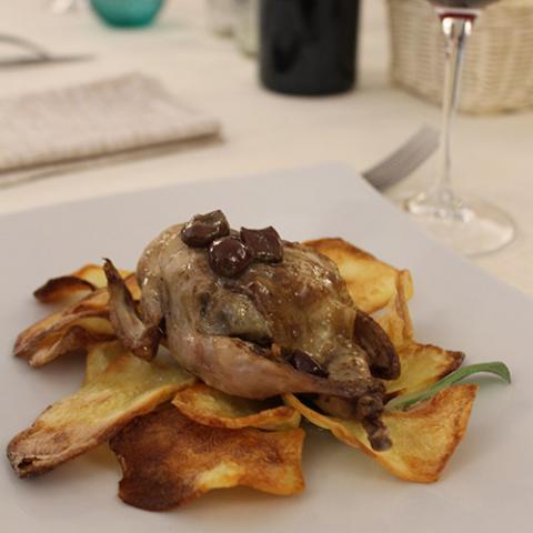 secondi piatti quaglia farcita ristorante La Tagliatella Arezzo
