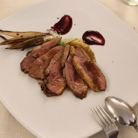 secondi piatti petto di anatra ristorante la Tagliatella Arezzo