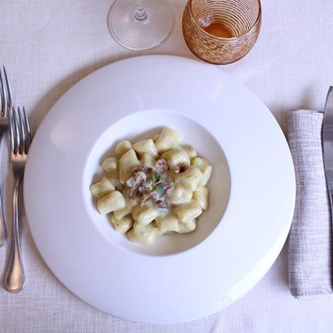 primi piatti gnocchi al gorgonzola ristorante la Tagliatella Arezzo