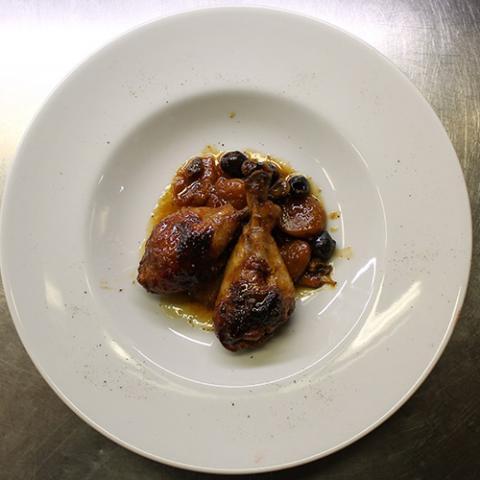 Pollo con Albicocche ristorante Dario e Anna Arezzo
