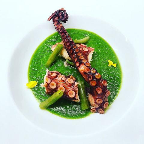 Polipo croccante ristorante Dario e Anna Arezzo