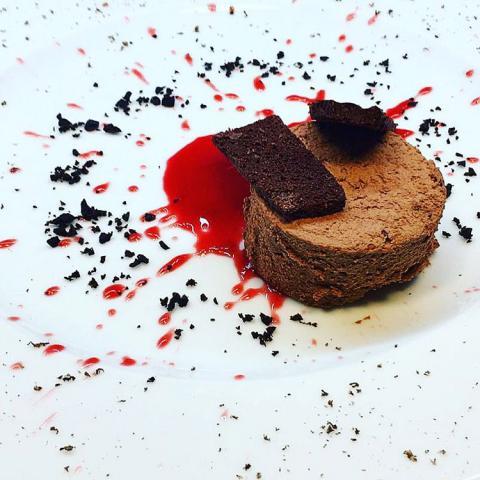 Parfait al cioccolato ristorante Dario e Anna Arezzo