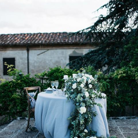 Romantic Wedding: allestimento tavoli Flowers Living Vetrinando Arezzo