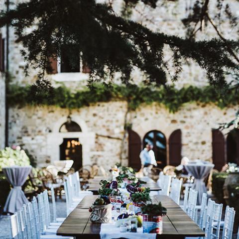 Country Chic: allestimento ricevimento Flowers Living Vetrinando Arezzo