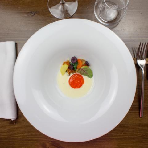Finto uovo all'occhio di bue ristorante Bistrot 31 Arezzo