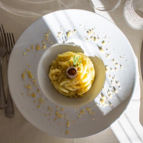 Pici in Crema di Broccoli La Tagliatella Vetrinando Arezzo