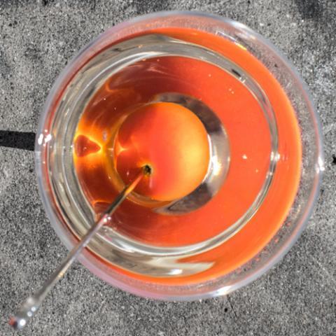Red circle on white Emilio Cafe Vetrinando Arezzo