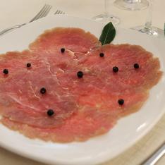 Antipasto Filetto di maiale marinato ristorante la Tagliatella
