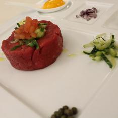 secondi piatti Tartara di Chianina ristorante la Tagliatella Arezzo