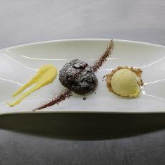Tortino al cioccolato ristorante Dario e Anna Arezzo
