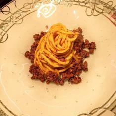 Taglierini al ragù bianco di Chianina ristorante Dario e Anna Arezzo