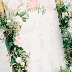 Romantic Wedding: tableau de mariage Flowers Living Vetrinando Arezzo