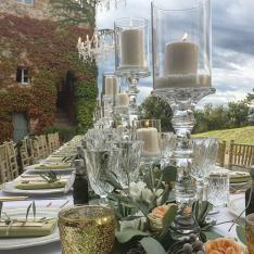 Wedding in Siena Countryside: allestimento tavoli Flowers Living Vetrinando Arezzo