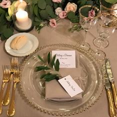 Elegant wedding: allestimento tavoli Flowers Living Vetrinando Arezzo