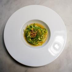 Nido di carpaccio di zucchine ristorante Dario e Anna Arezzo Vetrinando