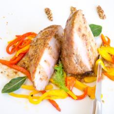 Filetto di maiale senape peperoni ristorante La Tagliatella Arezzo Vetrinando