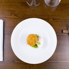 Uovo fritto e gelato antipasto Bistrot 31 Vetrinando Arezzo