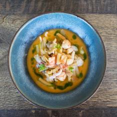 Zuppa di fagioli zolfini, molluschi e crostacei Terramira Vetrinando Arezzo