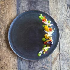 Avocado, Pomodoro Confit, Sfoglie di Mais Terramira Vetrinando Arezzo